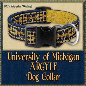 Michigan ARGYLE Designer Dog Collar Product Image No1