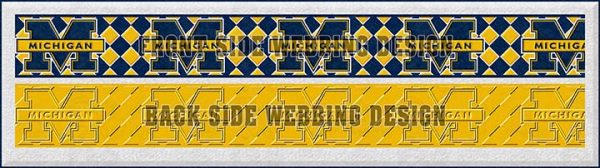 University of Michigan Dog Collar Design Display Product Image No3