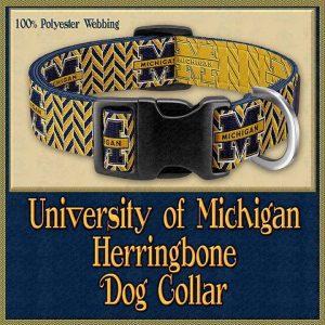 Michigan Herringbone Designer Dog Collar Product Image No1