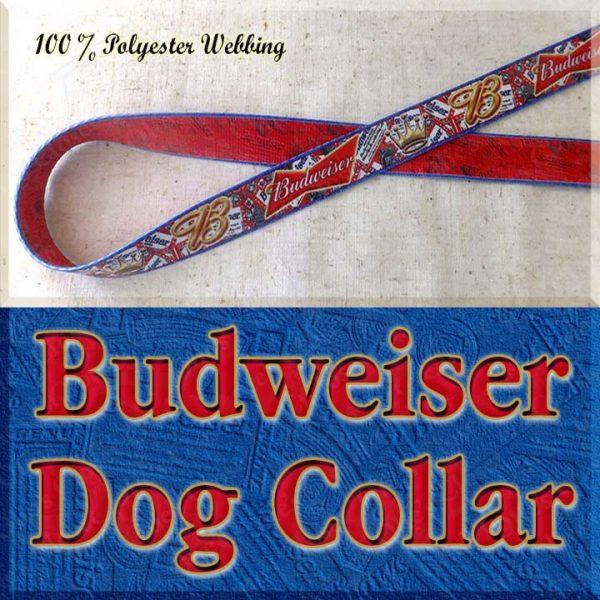 Budweiser Beer Designer Dog Collar Product Image No1