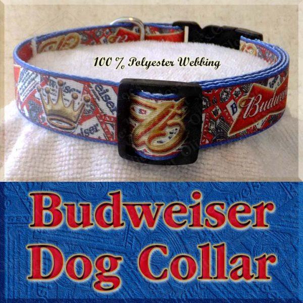Budweiser Beer Designer Dog Collar Product Image No2