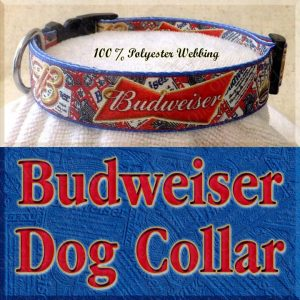Budweiser Beer Designer Dog Collar Product Image No3