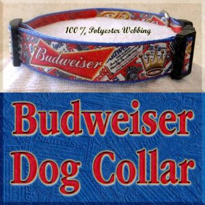 Budweiser Beer Designer Dog Collar Product Image No4