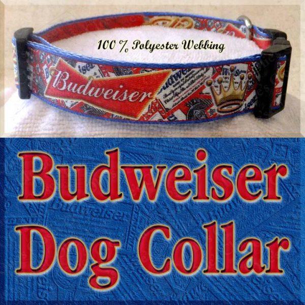 Budweiser Beer Designer Dog Collar Product Image No4