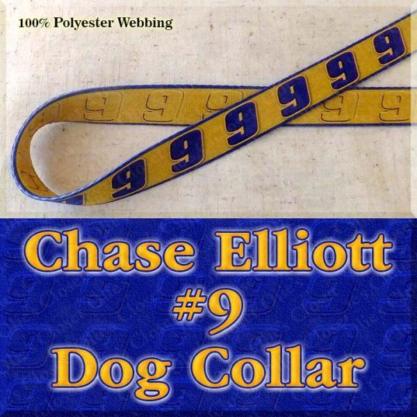 Chase Elliott 9 NASCAR Fan Designer Dog Collar Product Image No1