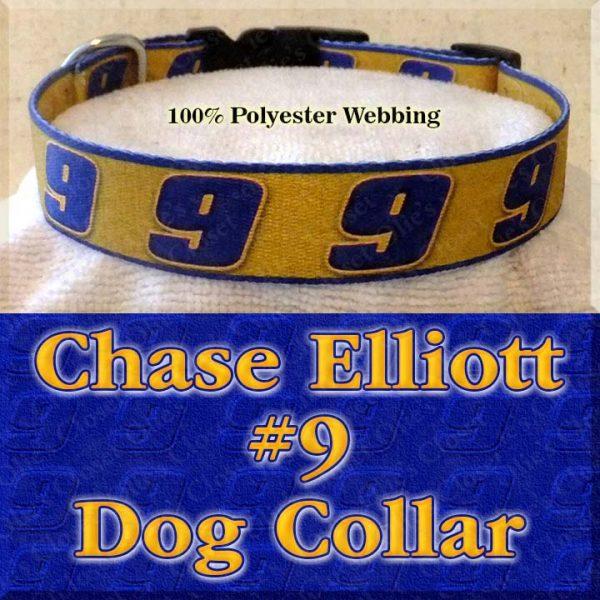 Chase Elliott 9 NASCAR Fan Designer Dog Collar Product Image No2