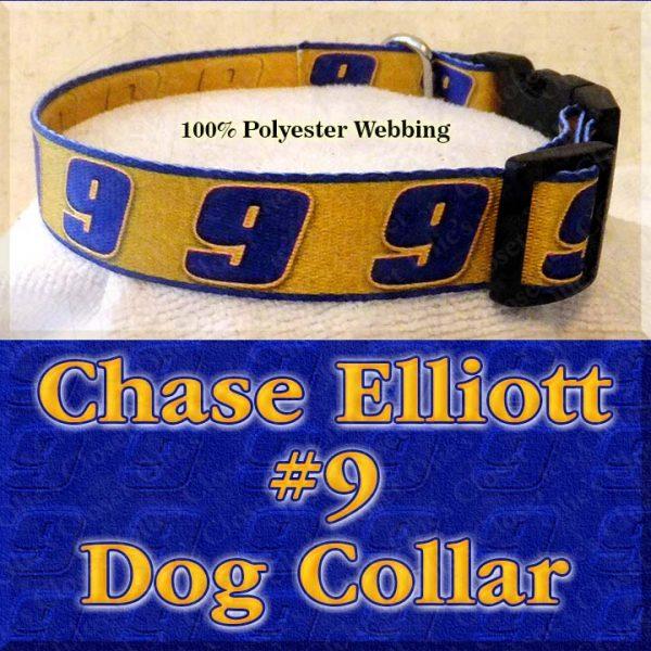 Chase Elliott 9 NASCAR Fan Designer Dog Collar Product Image No3
