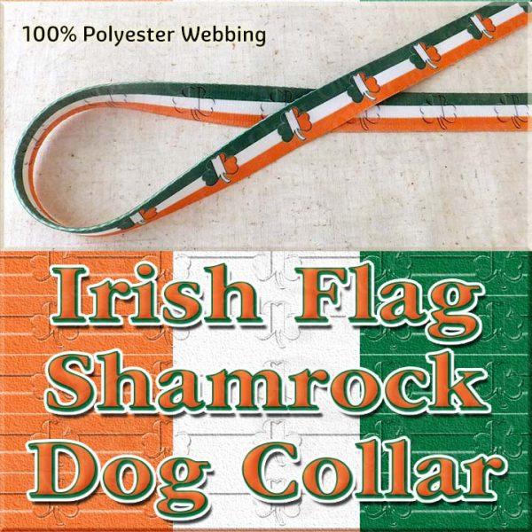 Irish Flag Shamrock Dog Collar Product Image No1