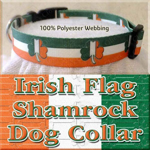Irish Flag Shamrock Dog Collar Product Image No2