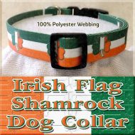 Irish Flag Shamrock Dog Collar Product Image No3