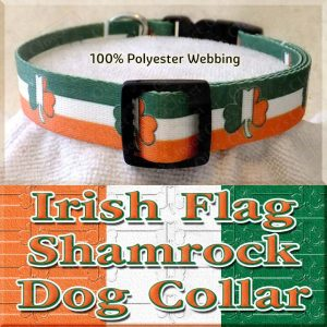 Irish Flag Shamrock Dog Collar Product Image No3