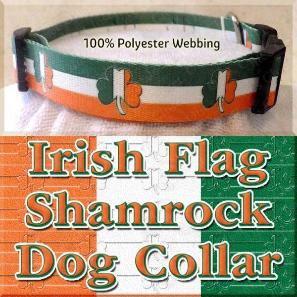 Irish Flag Shamrock Dog Collar Product Image No4