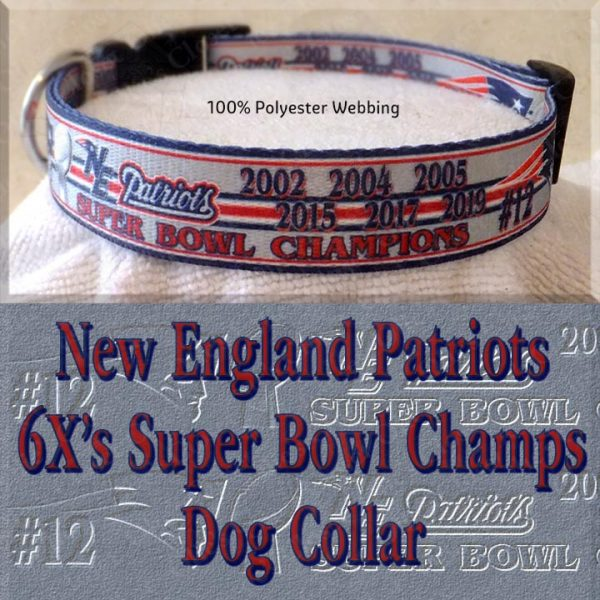 New England Patriots Super Bowl Champions Collar Product Image No3