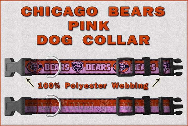 Chicago Bears PINK Dog Collar Design Display Product Image No4