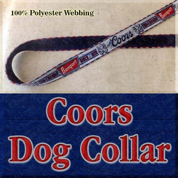 Coors Beer Mountain Brewed Designer Dog Collar Product Image No1