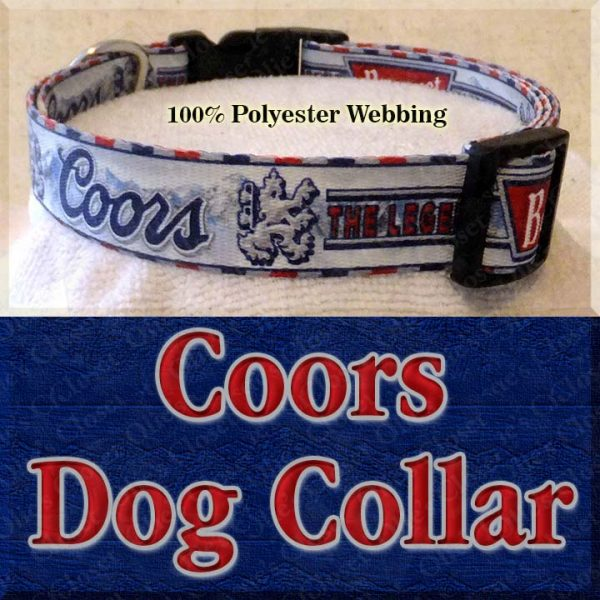 Coors Beer Mountain Brewed Designer Dog Collar Product Image No2