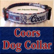 Coors Beer Mountain Brewed Designer Dog Collar Product Image No5