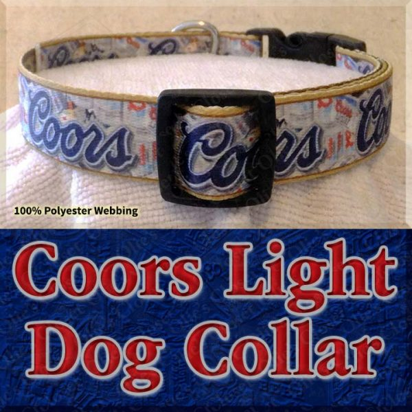 Coors Light Beer Designer Dog Collar Product Image No3