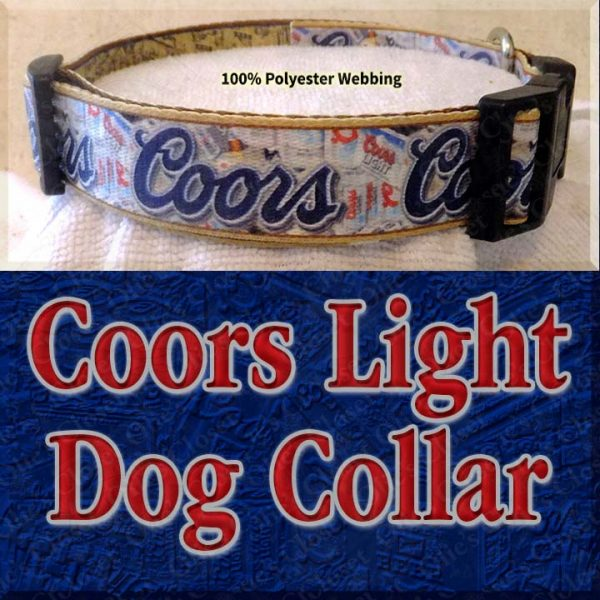 Coors Light Beer Designer Dog Collar Product Image No4