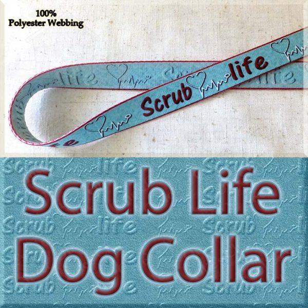 Scrub Life Designer Polyester Webbing Dog Collar Product Image No1