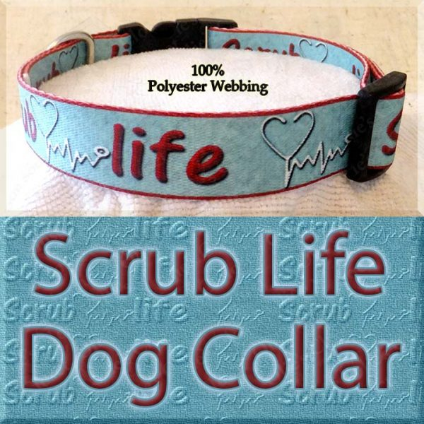 Scrub Life Designer Polyester Webbing Dog Collar Product Image No2