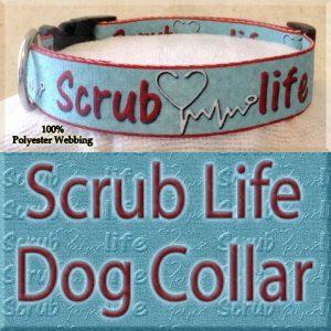 Scrub Life Designer Polyester Webbing Dog Collar Product Image No3