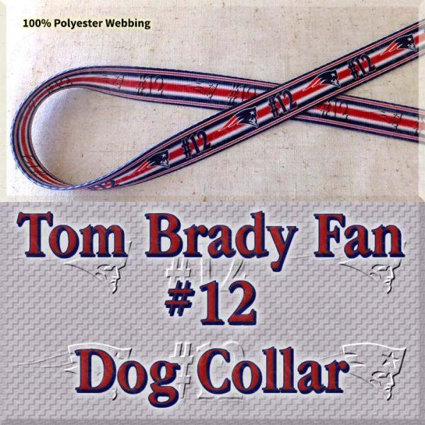 Tom Brady Fan Patriots Design Dog Collar Product Image No1