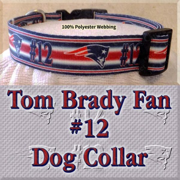 Tom Brady Fan Patriots Design Dog Collar Product Image No2