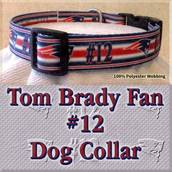 Tom Brady Fan Patriots Design Dog Collar Product Image No3