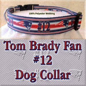 Tom Brady Fan Patriots Design Dog Collar Product Image No4