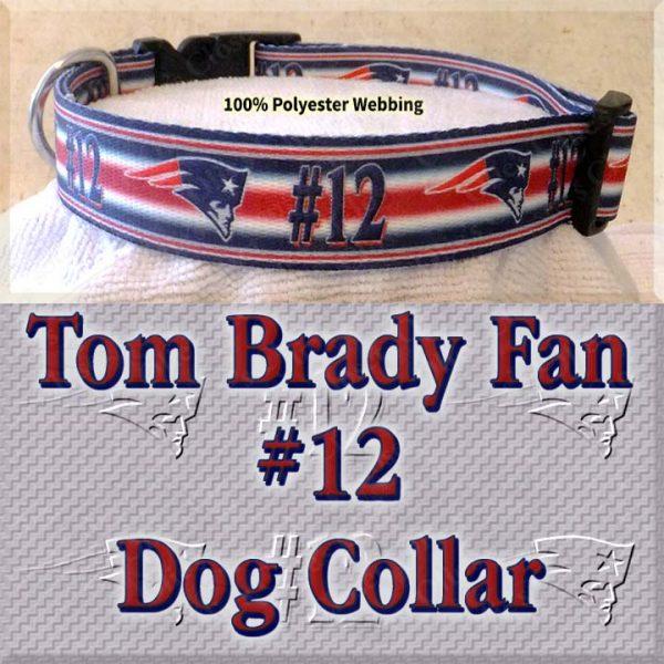 Tom Brady Fan Patriots Design Dog Collar Product Image No4