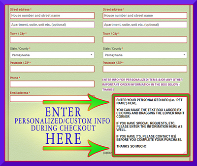 VISUAL AID ADD CUSTOM INFO DURING CHECKOUT CDDC