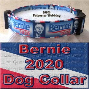 Bernie Sanders for President 2020 Polyester Webbing Dog Collar Product Image No3