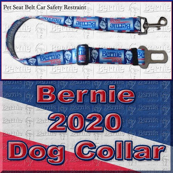 Bernie Sanders for President 2020 Polyester Webbing Dog Collar Product Image No5