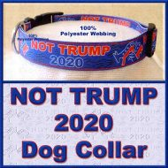NOT TRUMP for President 2020 Dog Collar Product Image No2