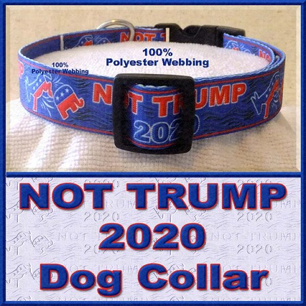NOT TRUMP for President 2020 Dog Collar Product Image No3