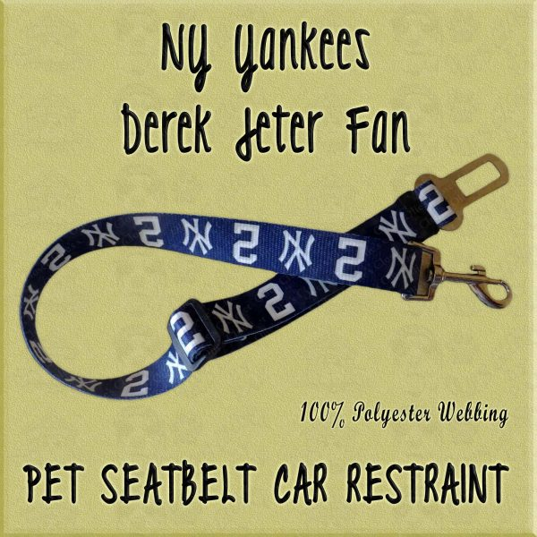 NY Yankees Derek Jeter Fan No2 WEBBING CAR RESTRAINT Product Image No1