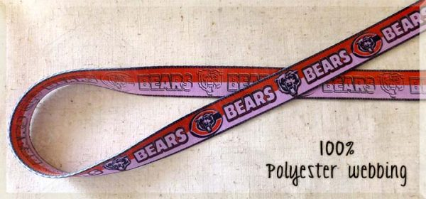 PINK Chicago Bears 100% Polyester Webbing Pet Car Seat Belt Car Restraint Product Image