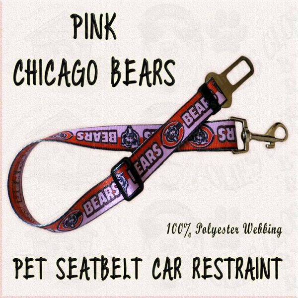 PINK Chicago Bears WEBBING CAR RESTRAINT Product Image No1