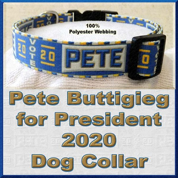 Pete Buttigieg for President 2020 Dog Collar Product Image No2