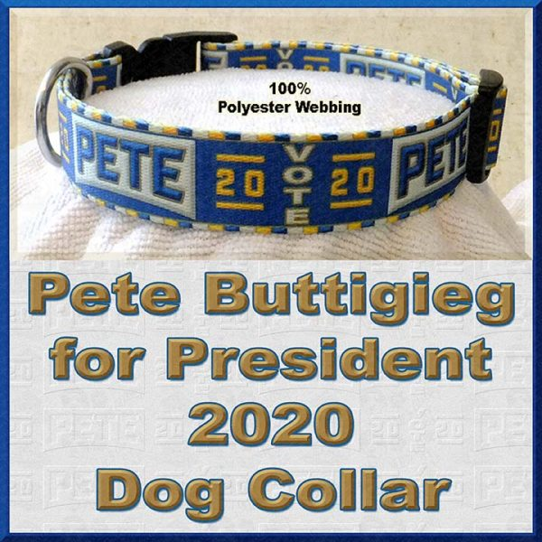 Pete Buttigieg for President 2020 Dog Collar Product Image No3