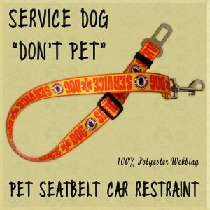 Service Dog Please Do Not Pet WEBBING CAR RESTRAINT Product Image No1