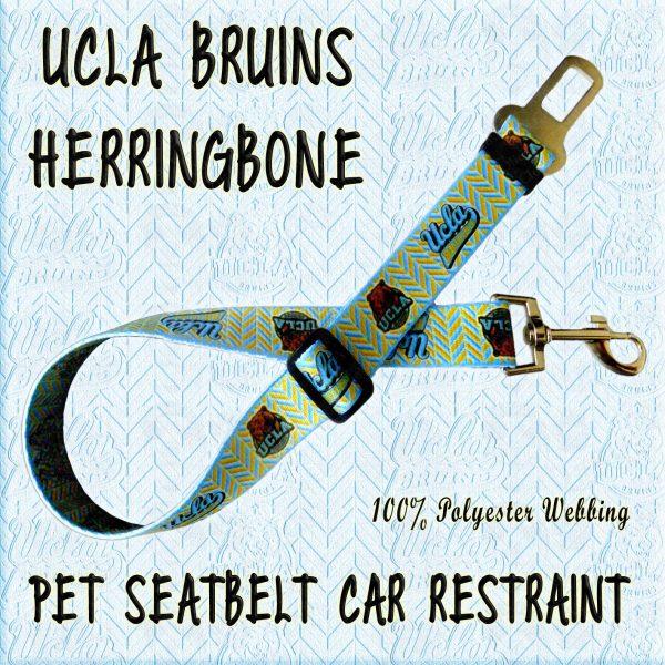 UCLA BRUINS HERRINGBONE WEBBING CAR RESTRAINT Product Image No1