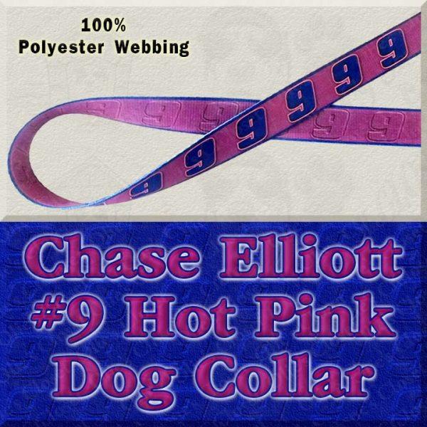 Chase Elliott 9 Hot Pink NASCAR Fan Designer Dog Collar Product Image No1
