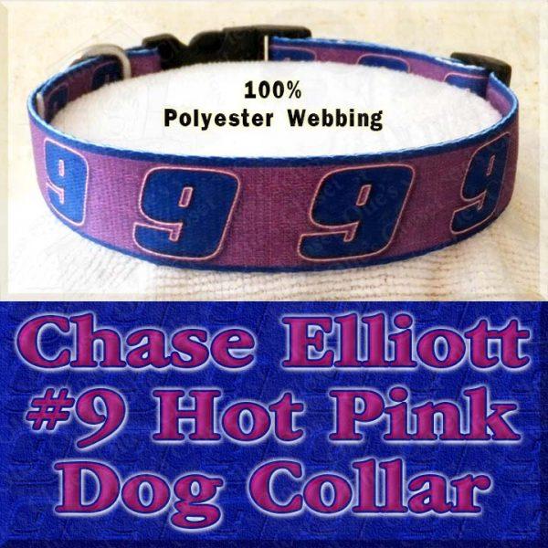 Chase Elliott 9 Hot Pink NASCAR Fan Designer Dog Collar Product Image No2