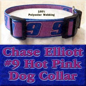 Chase Elliott 9 Hot Pink NASCAR Fan Designer Dog Collar Product Image No4