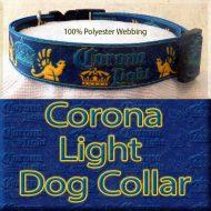 Corona Light Beer Designer Polyester Webbing Dog Collar Product Image No2