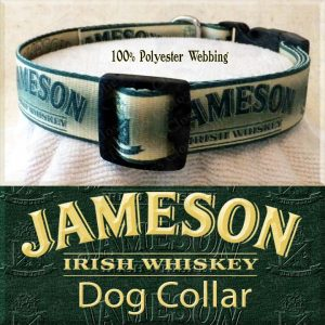Jameson Whiskey Polyester Webbing Dog Collar Product Image No4