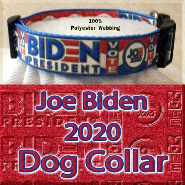 Joe Biden 2020 President Designer Polyester Webbing Dog Collar Product Image No1