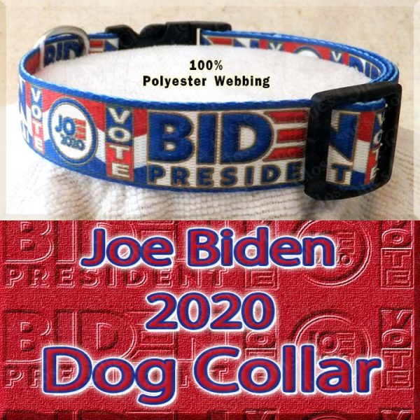 Joe Biden 2020 President Designer Polyester Webbing Dog Collar Product Image No2